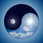sky & moon yin:yang dreamstimemedium_6721194