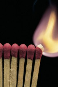 Still Life; Matches Burning